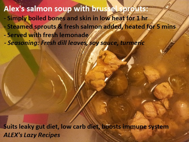 New recipe: Salmon soup with dill and brussel sprouts:)